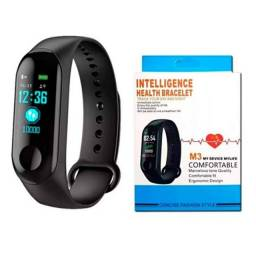 Relógio Pulseira Inteligente Smartwatch M3 Monitor Cardíaco e Pedômetro Fitness