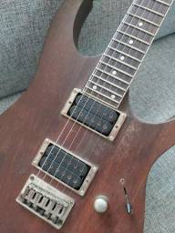 Guitarra Ibanez RG 321 MH, corpo em Mogno, cordas D'Addario 0.10, bag, correia