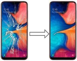 Samsung a20 e Etc.. troca de  tela conector etc..