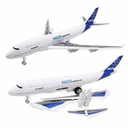 Avião Brinquedo Fricção Acende Luzes Som Modelo H620