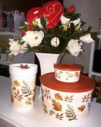 Kit Tigelas de folhas / Coleção Outono Tupperware