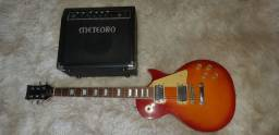 Guitarra Michael Les Paul GM750N Vintage Sunburst x Cubo Meteoro c/Drive Select MG-15