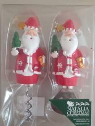 Abridor e saca-rolhas com tema natalino
