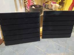Painéis canaletados pretos 69x63cm