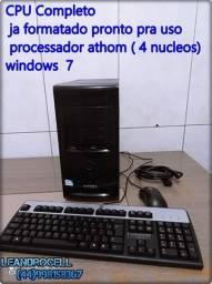 cpu teclado e  mouse( processador  4nucleos)