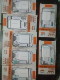 Kit com 07 Carregadores Tipo C