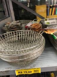 Título do anúncio: R$ 15 cesto estanhado p/ fritura