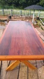Mesa de peroba rosa a pronta entrega 2 metros de comprimento por 90 cm largura