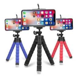 Tripé Flexível Portátil Pequeno para Suporte de Câmera / Celular