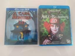 Título do anúncio: 2 DVD Blu Ray 3D por 15 reais