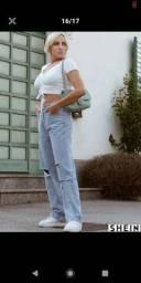 Calça Bolso Ocasional Jeans
