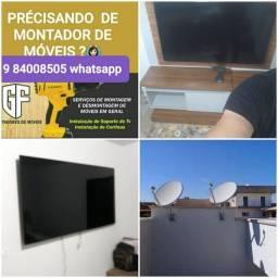 Título do anúncio: Montador de Móveis + instalação de TVs 9  * zap