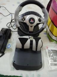 Simulador de direção para Pc , PS3 e PS2 (volante twin turbo)