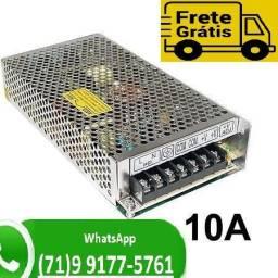 Fonte Chaveada 10a 12v 120w Para Cftv Fita Led Som Automotivo 10 amperes (NOVO)