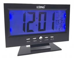 Relógio Mesa Digital Calendário Termômetro Despertador Le 8107