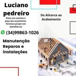 Pedreiro telhados e manutenção entre outros serviços