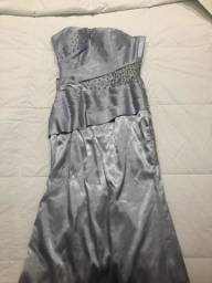 Título do anúncio: Vestido festa longo prata TAM P/36