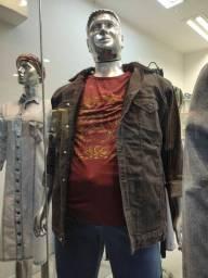 Jaqueta jeans tradicional forrada