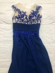 Título do anúncio: Vestido festa longo azul TAM P/36