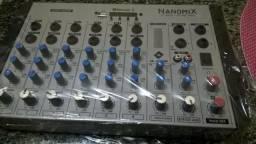 Mesa De Som Ll Audio Nanomix Na902r Bt Mixer Bivolt 8 Canais