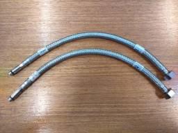 Mangueira Engate Flexível Aço Inox 40cm 1/2 Entrada Água