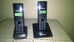 Telefone sem Fio - Panasonic, com Identificador de Chamadas + Ramal