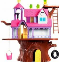 Casa da árvore barbie poly e barbie
