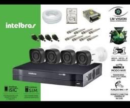 PROMOÇÃO IMPERDÍVEL kit 4 Câmeras Intelbras com Instalação