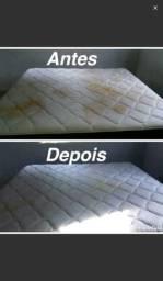 Lavagem a secos e vapor de estofados em geral.