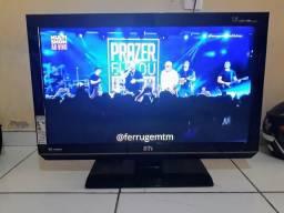 """Tv led 32"""" semp toshiba conversor digital integrado hdmi/usb fininha zerada"""