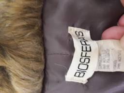 Casaco de pele tipo spencer marca Biosfera