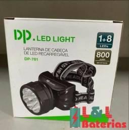 Título do anúncio: Lanterna Recarregável de Cabeça Dp-781 8+1 Led