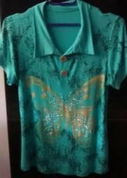 Blusa verde com estampa