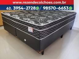 ::: Cama Box Colchao Plumatex Sonata Queen Size 158x198 A Pronta Entrega