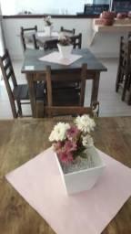 Conjunto mesa e cadeira restaurante, café, bistrot