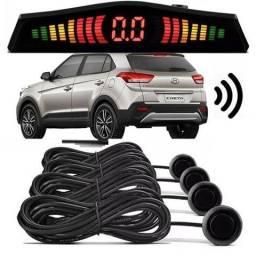 Sensor P/ Estacionamento Prata,Preto e Branco 4 pontos