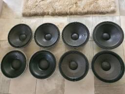 Vendo 8 falantes de 450 w 15 polegadas