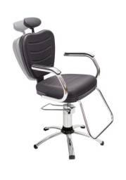 Cadeira Salão/Barbearia Top Reclinável - Dompel