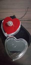 Promoção lindo anel feminino prata legítima pura e nova