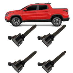 Título do anúncio: Jogo 4 Bobina Ignição Fiat Toro Jeep Renegade 1.8 Original
