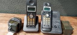 Telefone sem fio fixo Panasonic com ramal