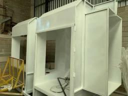 Cabines para pintura Eletrostática e líquida