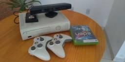 Xbox 360 Desbloqueado com 40 jogos, 2 Joysticks e Kinect