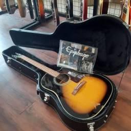 Epiphone AJ 210CE Outfit Acoustic Guitar W/ VE Sunburst