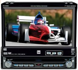 """DVD Player automotivo Dual - Tela retrátil - Tela de 7"""""""
