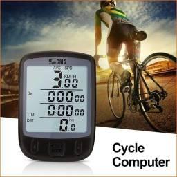 Velocímetro Ciclo Computador Bike Sensor Luz Noturna Sd563<br>