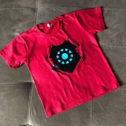 camiseta homem de ferro - tam 6