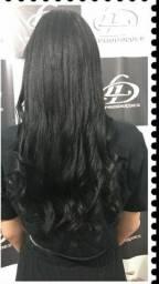 URGENTE Megahair Três telas de 60cm cabelo natural humano