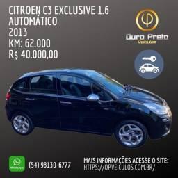 CITROEN C3 EXCLUSIVE 1.6/2013 - OURO PRETO VEÍCULOS