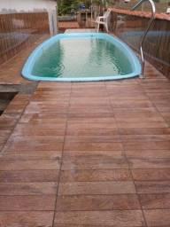 Vendo ou Troco casa   com piscina 3 quartos